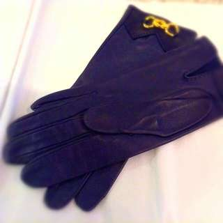 Authentic HERMES NEW LEATHER GLOVES