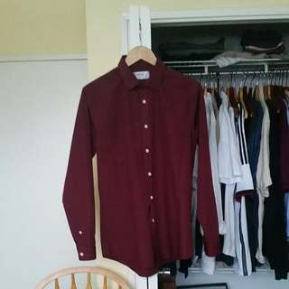 Maroon Dress Shirt