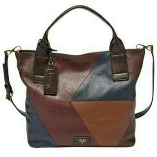 Fossil Emerson Handbag Dark Patchwork