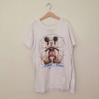 Disney Micky Mouse White Shirt