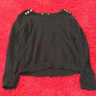 Dotti Black Pull Over Jumper Knit  Size 8