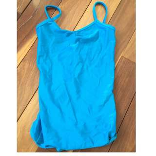 Camille Wolfe size 8 girls dance costume blue leotard