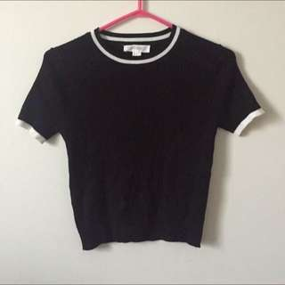 Black ribbed Top (Forever 21)