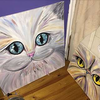 Cat Paintings - 'Cat Eyes'