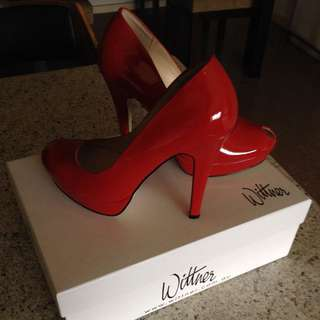 Wittner Patent Leather Red Shoes