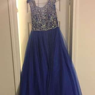 Blue Long Prom Dress