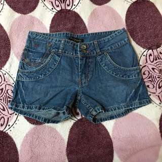KIDS OF BAYO Maong Shorts With Multicolor