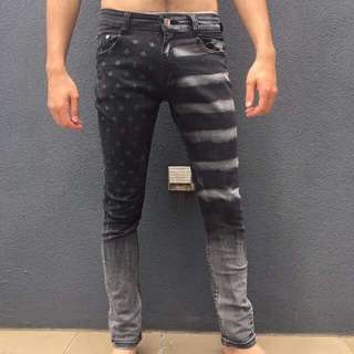 Size 32 Stars And Stripes Skinny Jeans