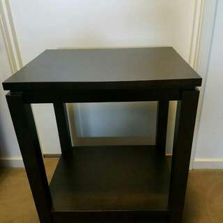 Small Dark Brown Wooden Table- Harvey Norman