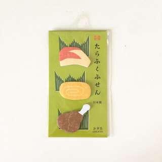 手帳裝飾 日本食物便利貼