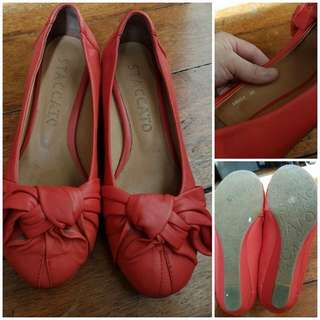 AUTHENTIC STACCATO RED SHOES