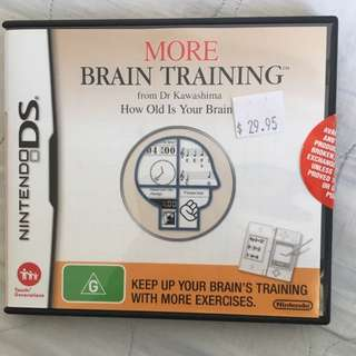 Nitendo DS Game More Brain Training