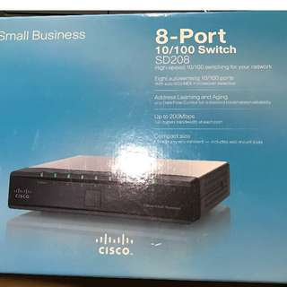 Cisco 8 Port Fast Ethernet 100Mbps Network Switch