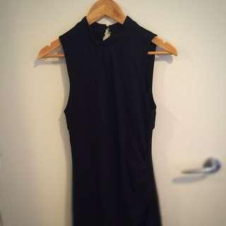 YAS Size M Black Dress