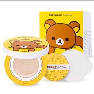 Apieu x Rilakkuma 拉拉熊聯名版保濕防曬氣墊粉餅