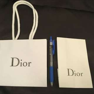 迪奧Dior 紙袋 與 緞帶