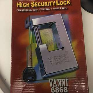 For your safety and convenience - Brand New Vanni 6868 High Security Lock