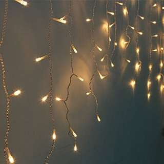 1.2M Power Point Curtain/Icy Lights