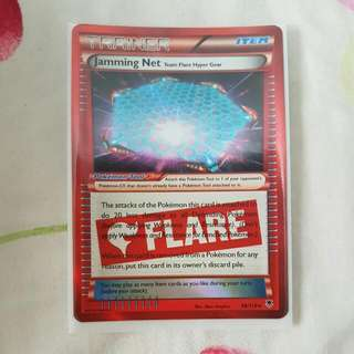 Pokemon TCG - Jamming Net Trainer Team Flare Card