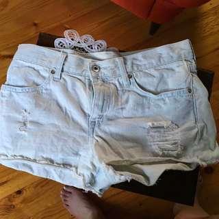 Denim Short Shorts (light Wash)
