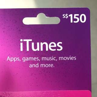 ITunes $150 Gift Card Unscratched (Reserved)