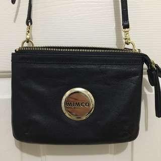 Mimco Secret Pouch Bag Black (Matte) And Gold