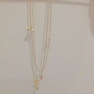 Authentic  Dior Gold Plated Two Chain Necklace