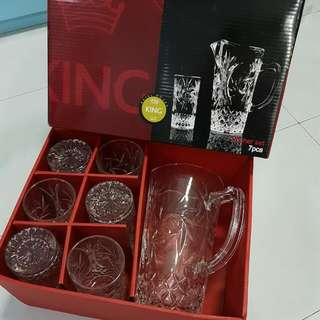 BNIB KING Pitcher Set 7pcs