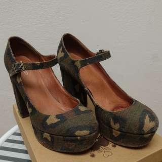 GORMAN camo print platform high heels AUSIZE 10 RRP$299