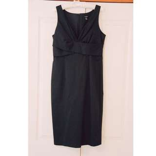 'Re-launch' Navy Fitted Dress