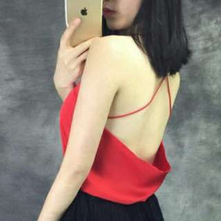 [ Reduced] Back Red Top
