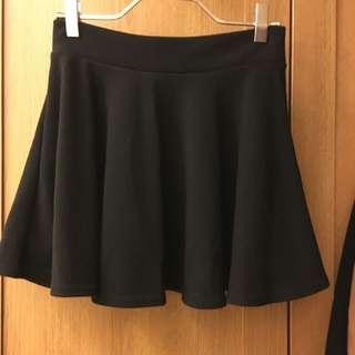 黑色 傘狀 彈性棉裙