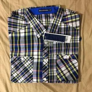 [特價700元]Meters/bonwe格紋薄長袖衫(M/170)
