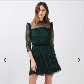 LOOKING FOR: Plisse Star Mesh Skater Dress