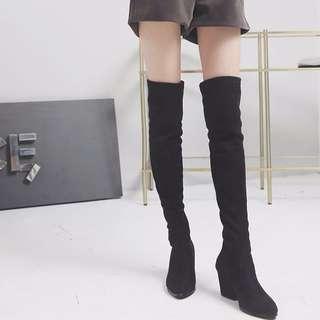冬季款 過膝顯瘦長靴