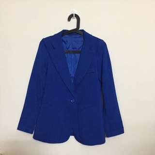(待匯款)冬季含運出清✨寶藍色西裝外套