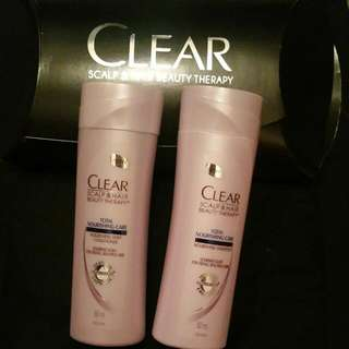 CLEAR Hair shampoo and conditioner