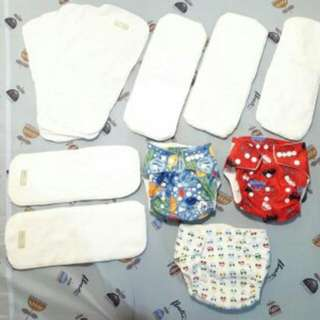 All For 550: Baby Leaf Cloth Diapers With Inserts & Liners