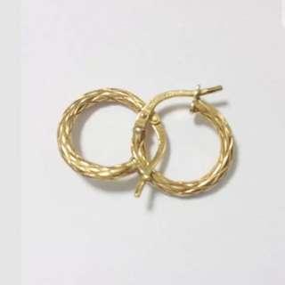 Genuine GOLD Filled Hoop Earrings -NEW