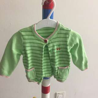 Mothercare Green Cardigan