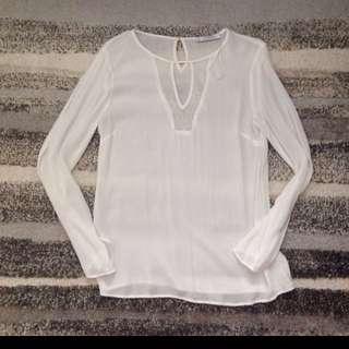 MANGO White Long Sleeves
