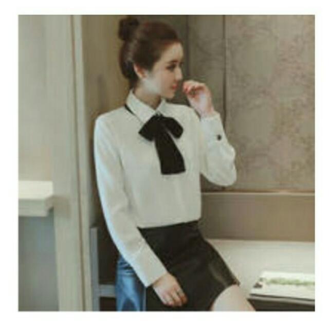 【全新】蝴蝶結造型百搭襯衫