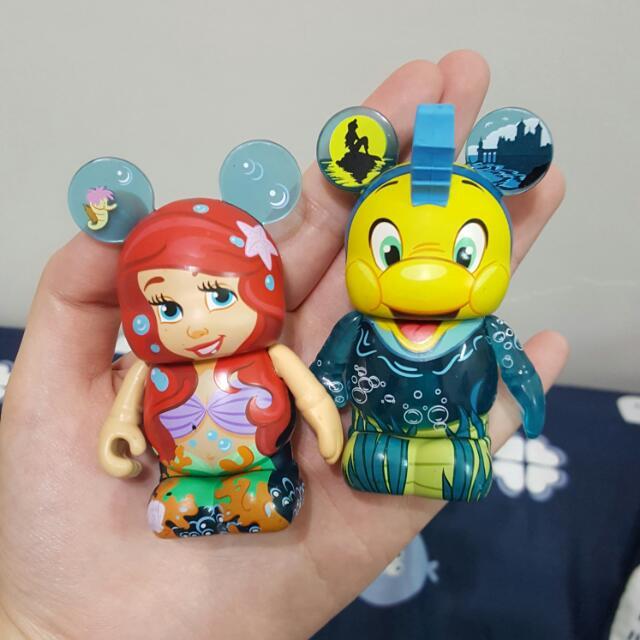 迪士尼 小美人魚 小比目魚 Vinylmations