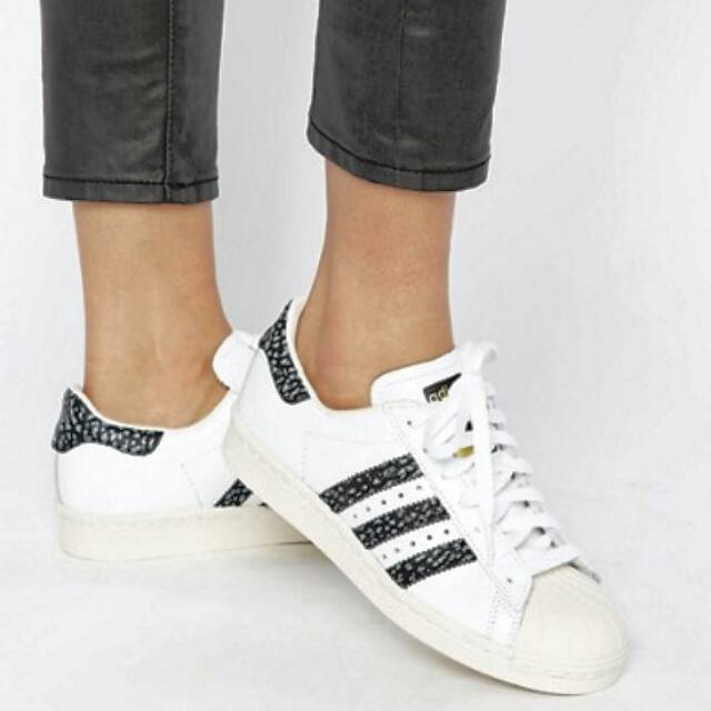 Nuovo Di Zecca!! Adidas Originali Nero Superstar E Bianco Serpente Impronta Superstar Nero 14af5a