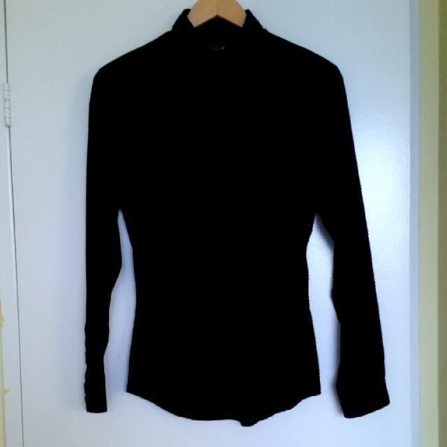 Black Dress Shirt (Men's Small)