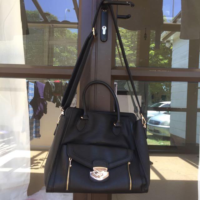 Black shower bag