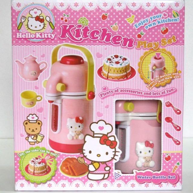 Bnib Hello Kitty Kitchen Playset Water Bottle Set Toys Games Bricks Figurines On Carousell