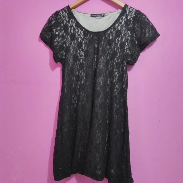 Lace Dress with Silk Inner