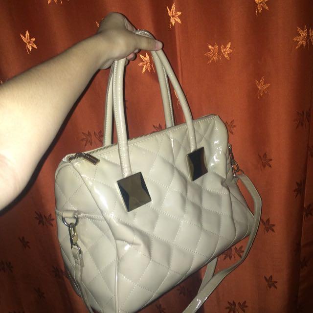 Charles&keith Handbag In Beige