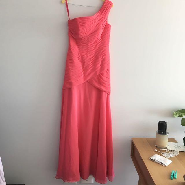 Coral Formal Dress Size AU 6